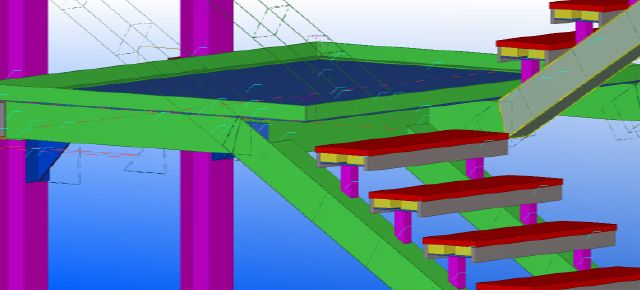 Tekla Stair Drawing