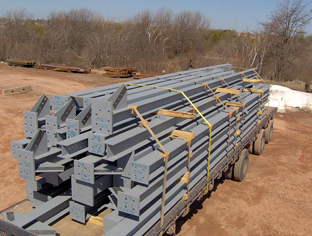 Shipment of structural steel
